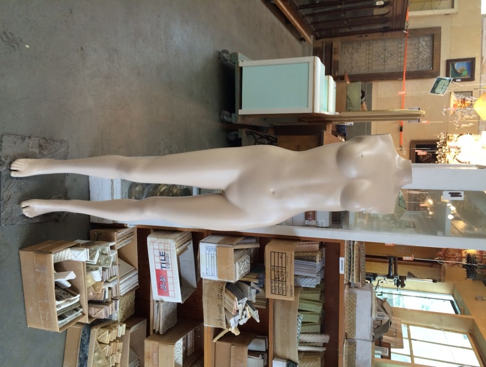 This mannequin is an exact replica of the Headless Horseman without the horse or... clothes.