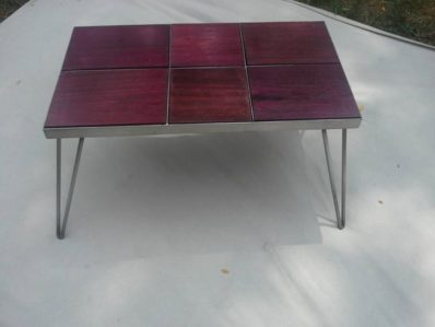 Pleasing Customer Project Purple Heart Coffee Table With Hairpin Interior Design Ideas Gresisoteloinfo